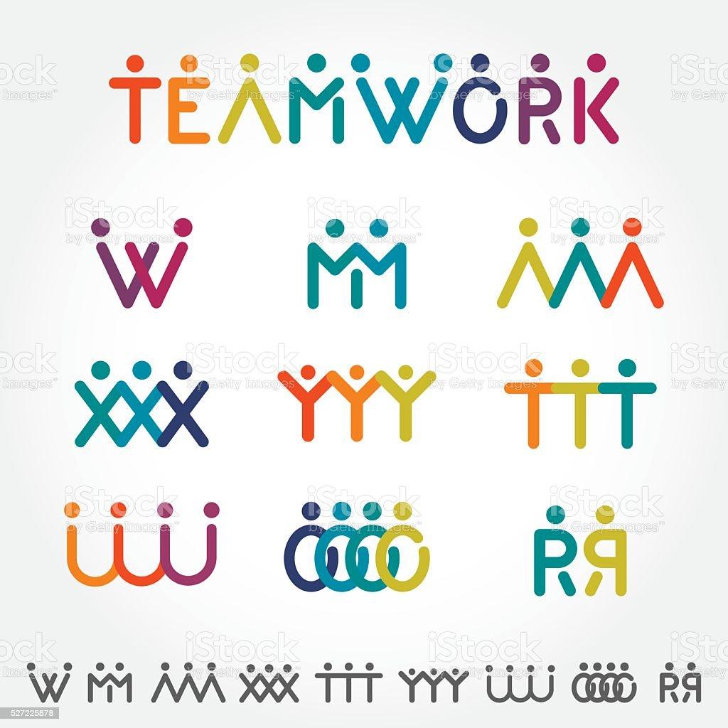 Teamwork Concept vector art illustration