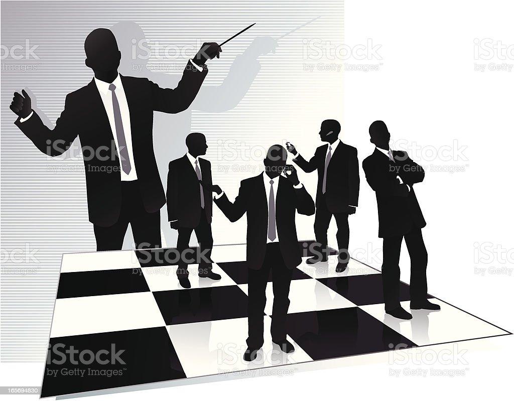 Teamwork Conductor royalty-free stock vector art