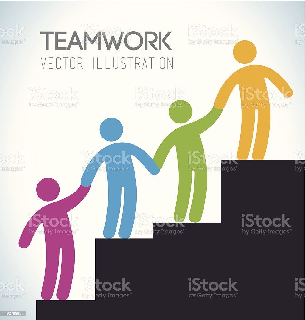 Teamwork design vector art illustration