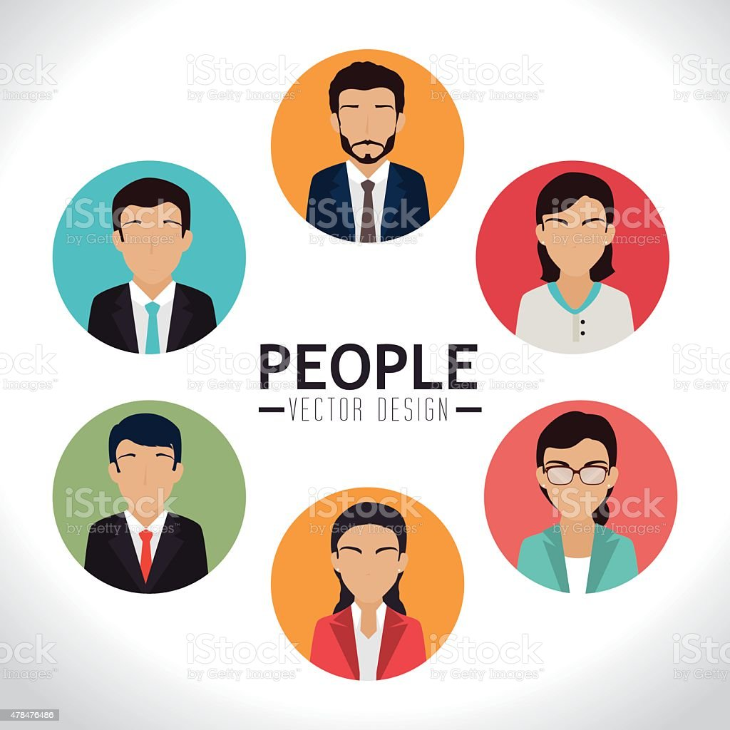 Teamwork design, vector illustration. vector art illustration