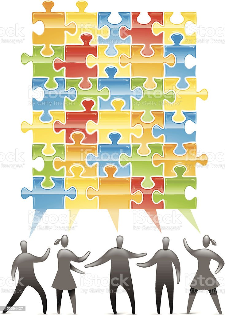 Teamwork Discussion royalty-free stock vector art