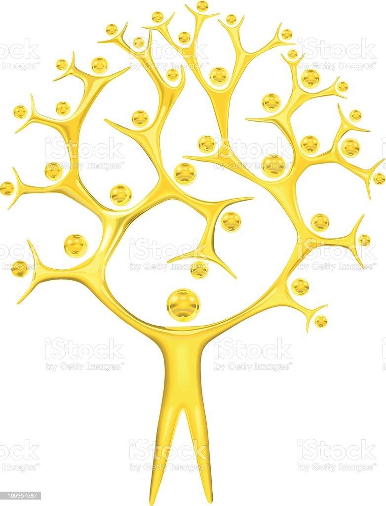 Teamwork: Gold Award royalty-free stock vector art