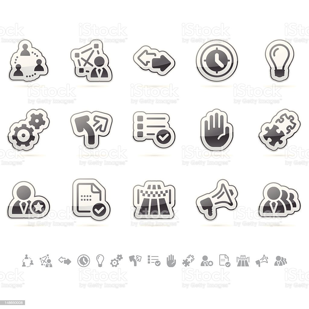 Teamwork Icon Set - Cloud Series vector art illustration