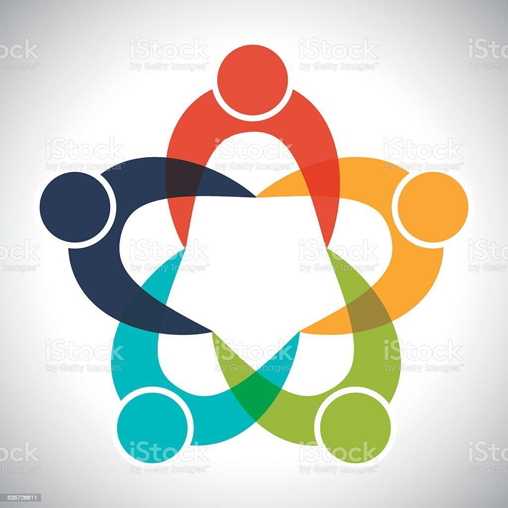 teamwork icon vector art illustration