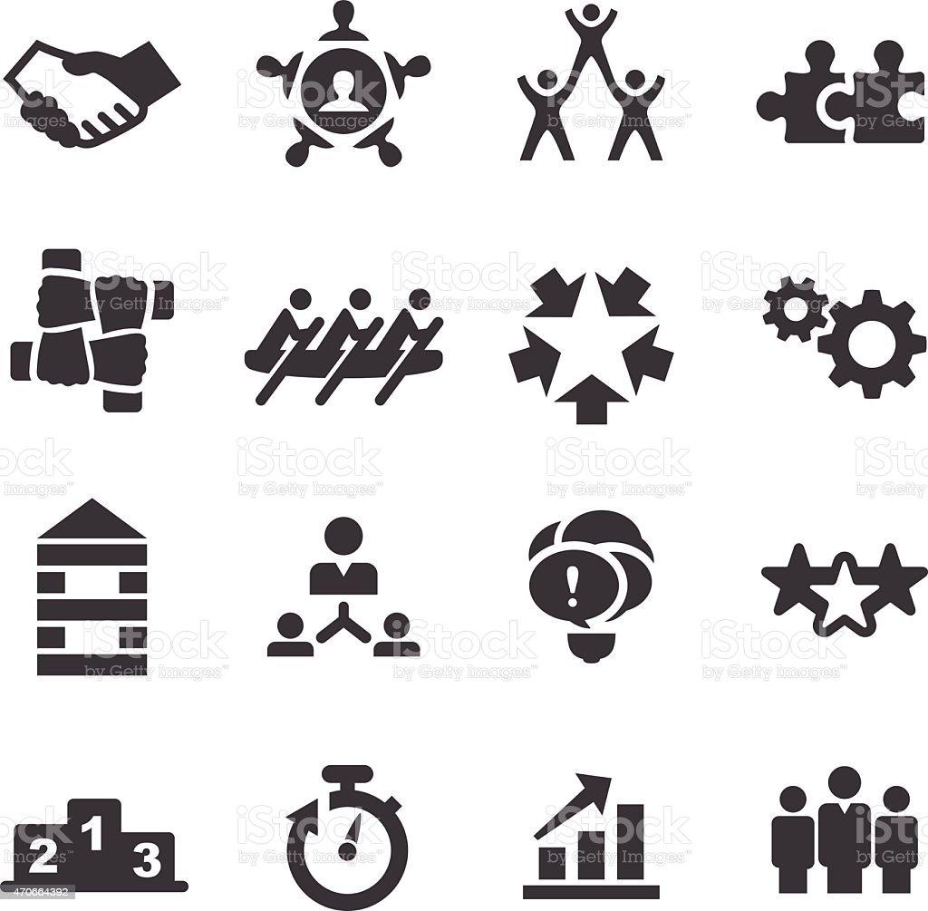 Teamwork Icons - Acme Series vector art illustration