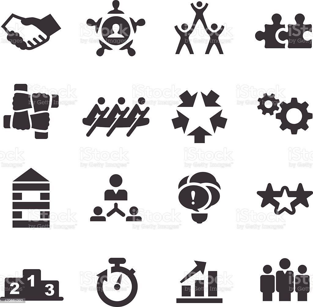Teamwork Icons - Acme Series vector art illustration