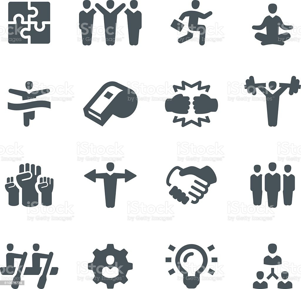 Teamwork Icons vector art illustration