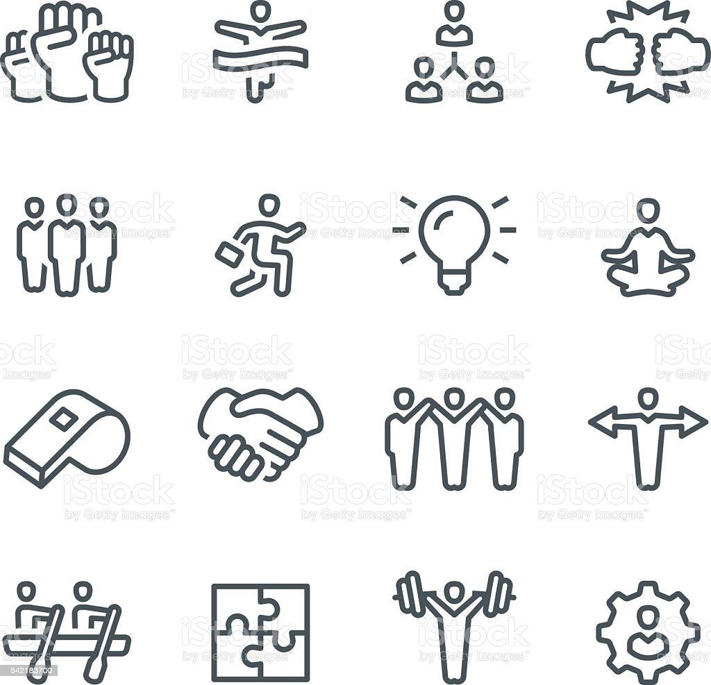 Teamwork Icons vector art illustration
