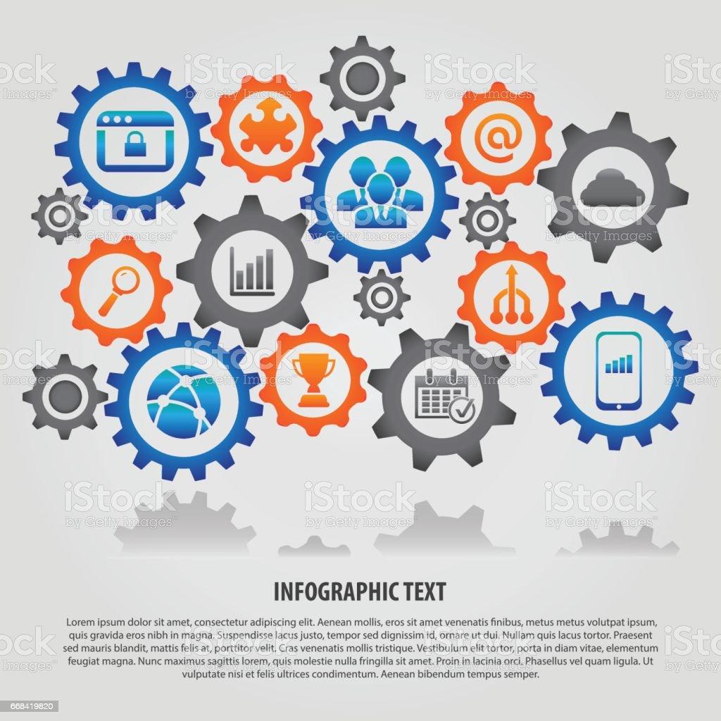 Teamwork Infographic Vector Illustration vector art illustration