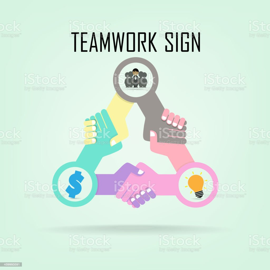 teamwork sign,business concept royalty-free stock vector art