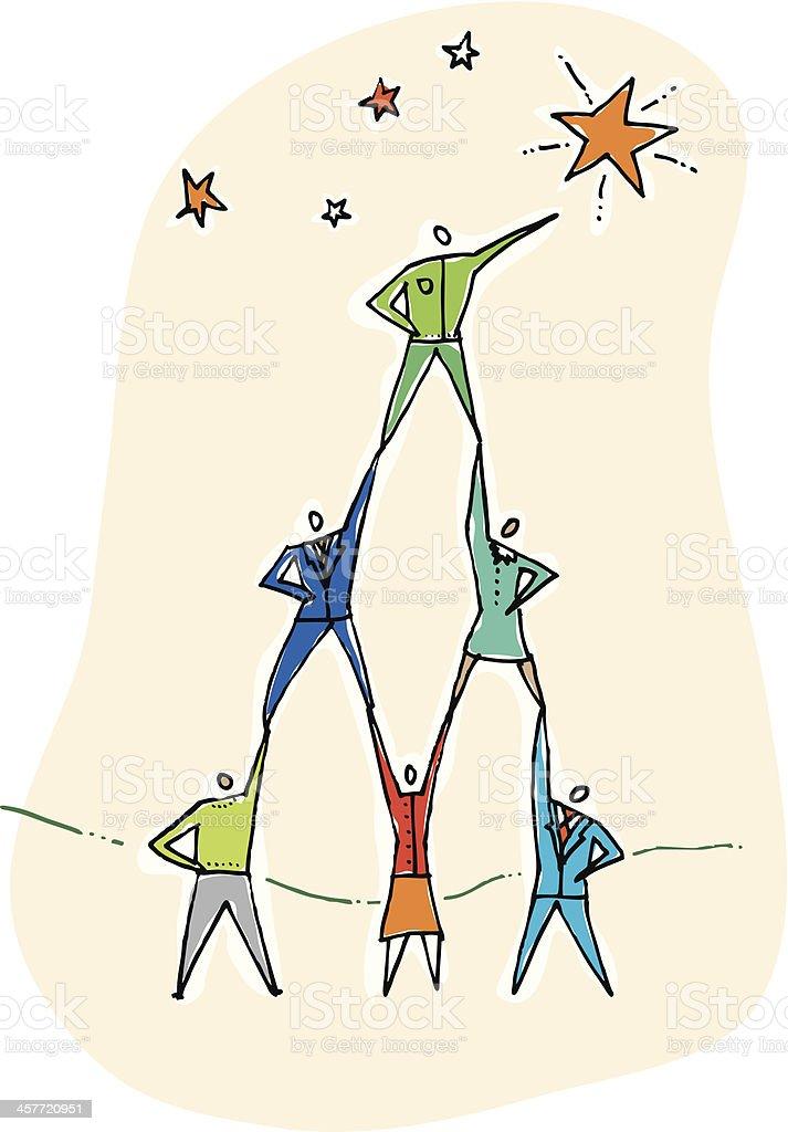 Teamwork Stars royalty-free stock vector art
