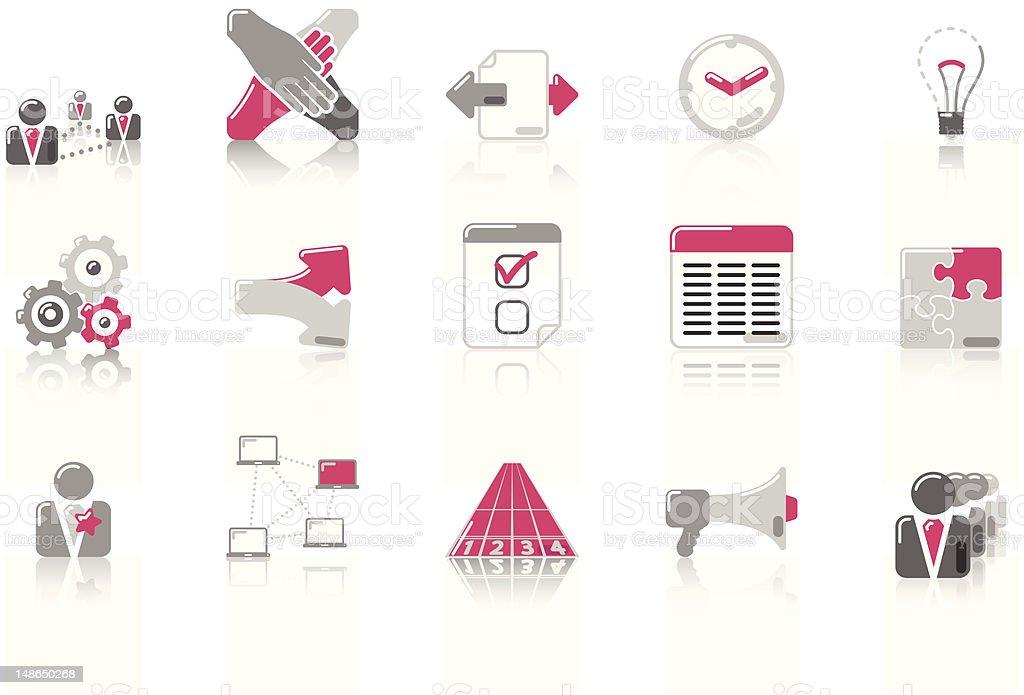 Teamwork - SunnydayPink Series royalty-free stock vector art