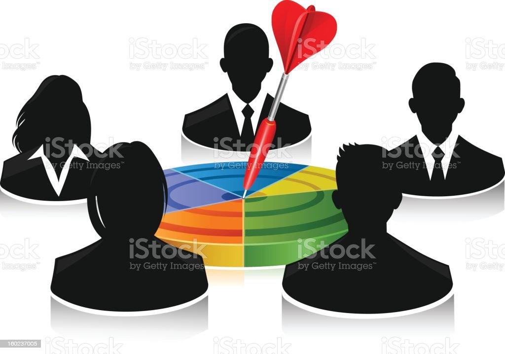 Teamwork Target royalty-free stock vector art