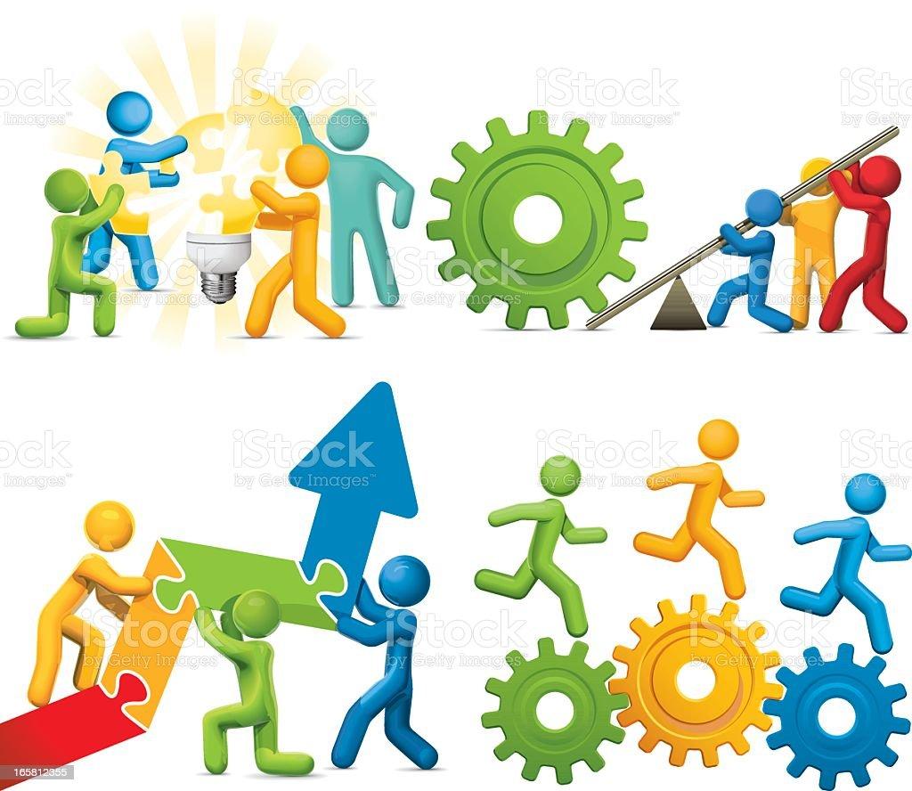 Teamwork stock vector art 165812355 | iStock