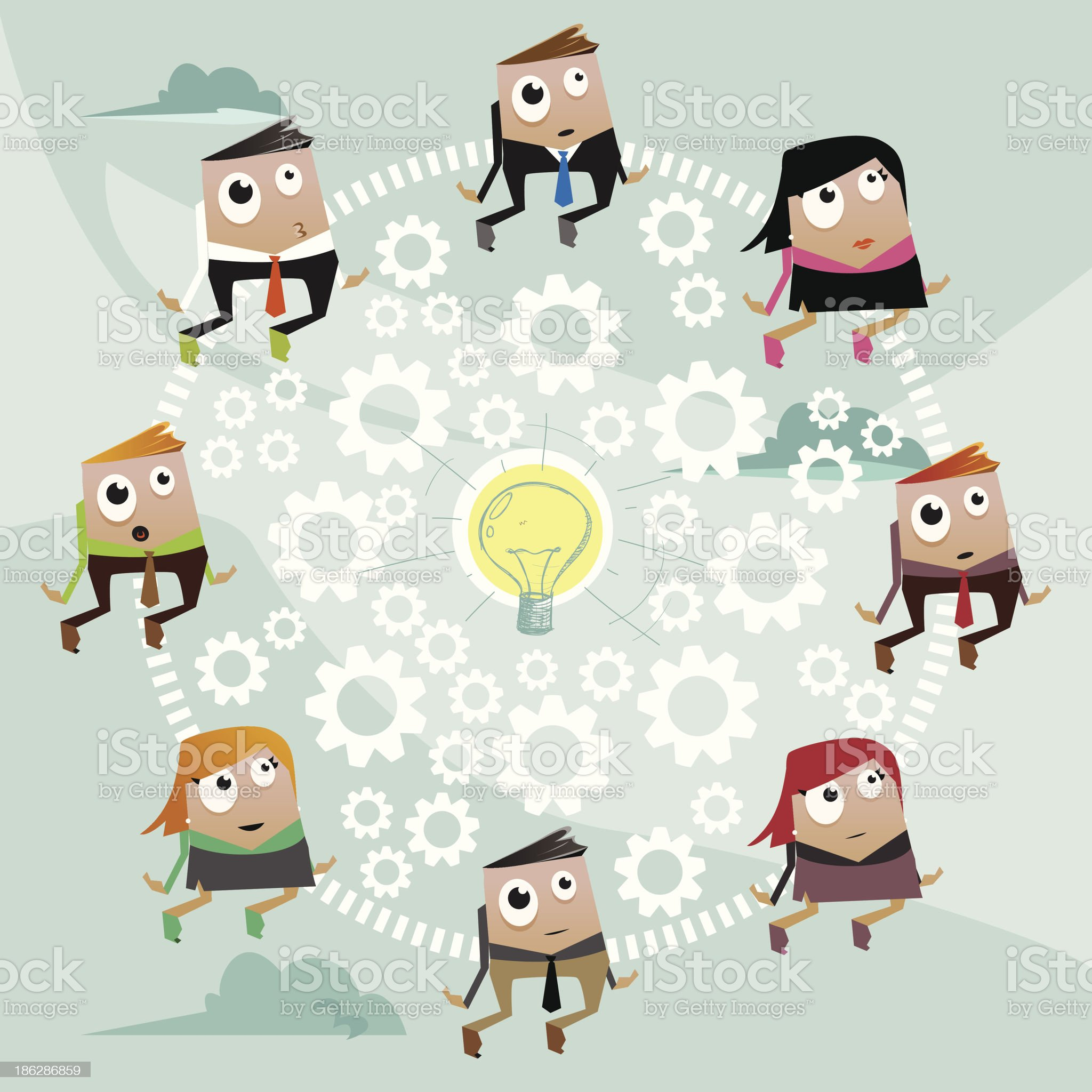 Teamwork royalty-free stock vector art