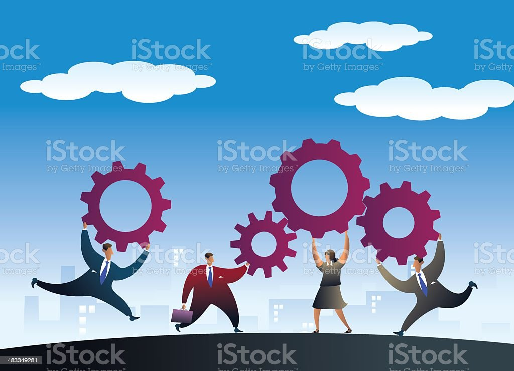 teamwork royalty-free stock vector art