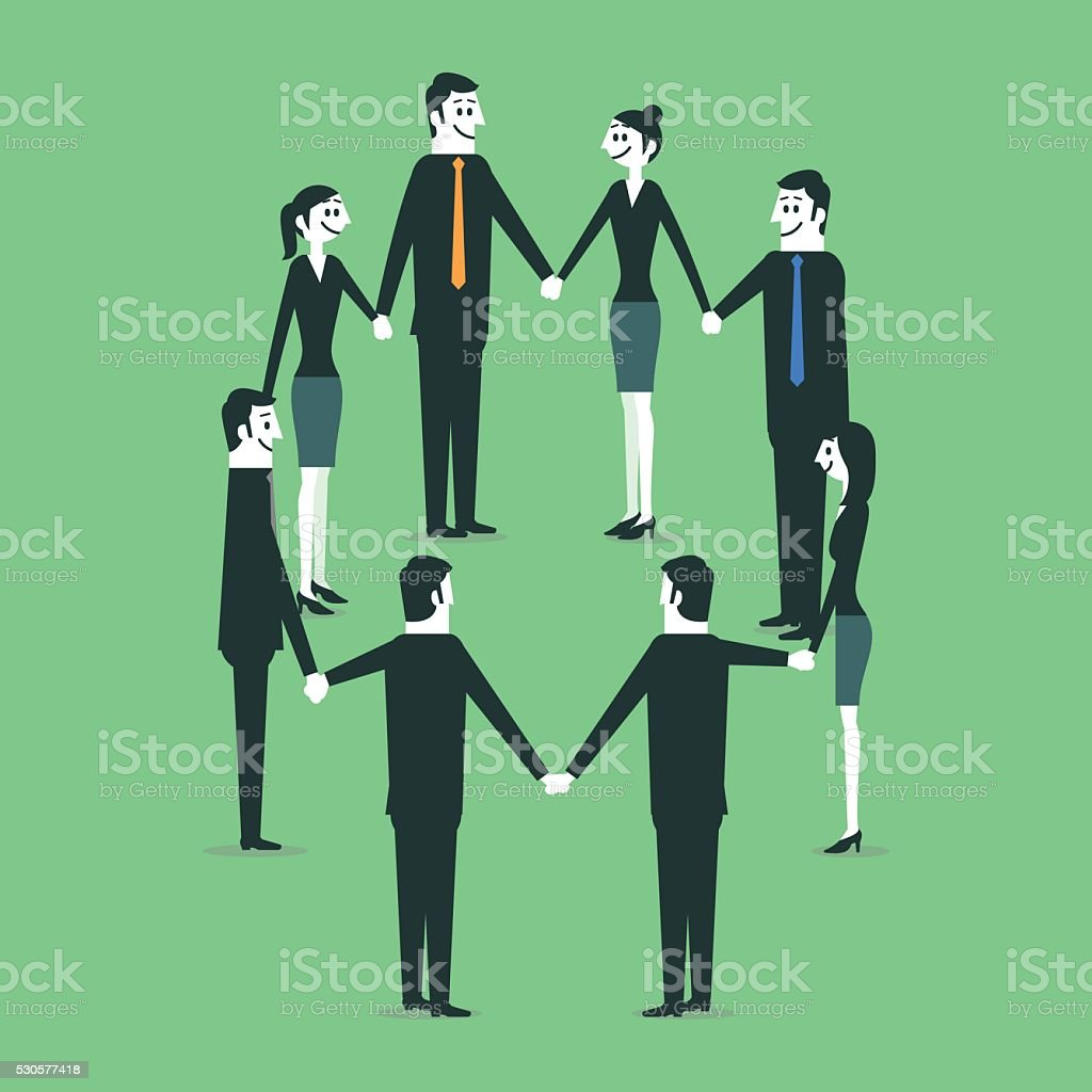 Teamwork vector art illustration