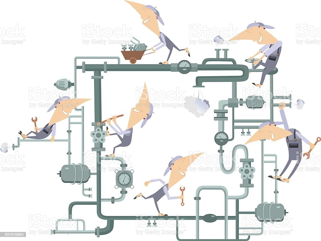 Teamwork work vector art illustration