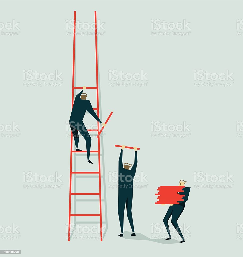 Teamwork-Illustration vector art illustration