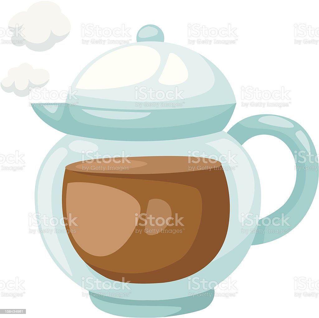 Teapot royalty-free stock vector art