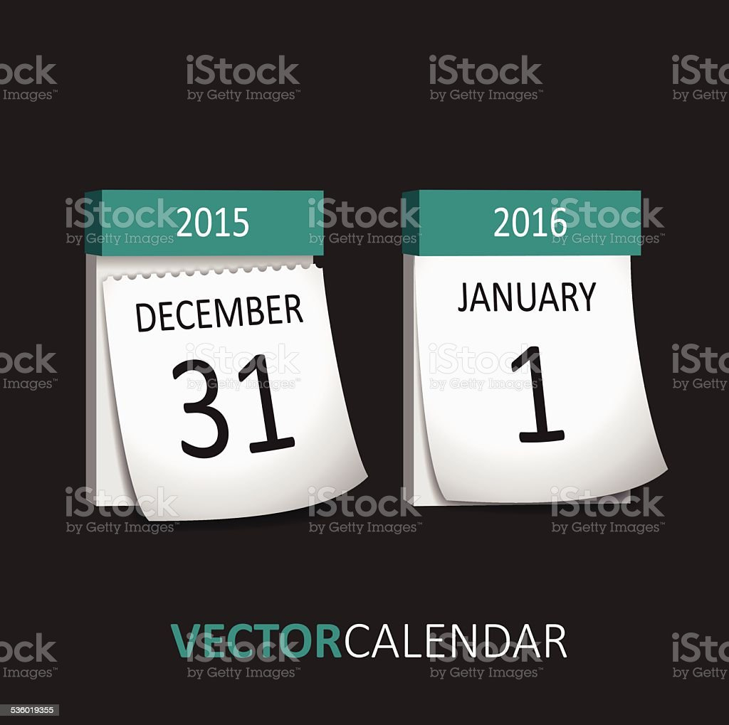 Tear-off Calendar - New Year vector art illustration
