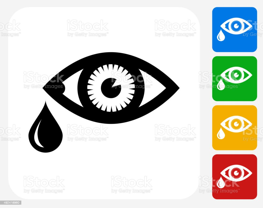 Tears Icon Flat Graphic Design vector art illustration