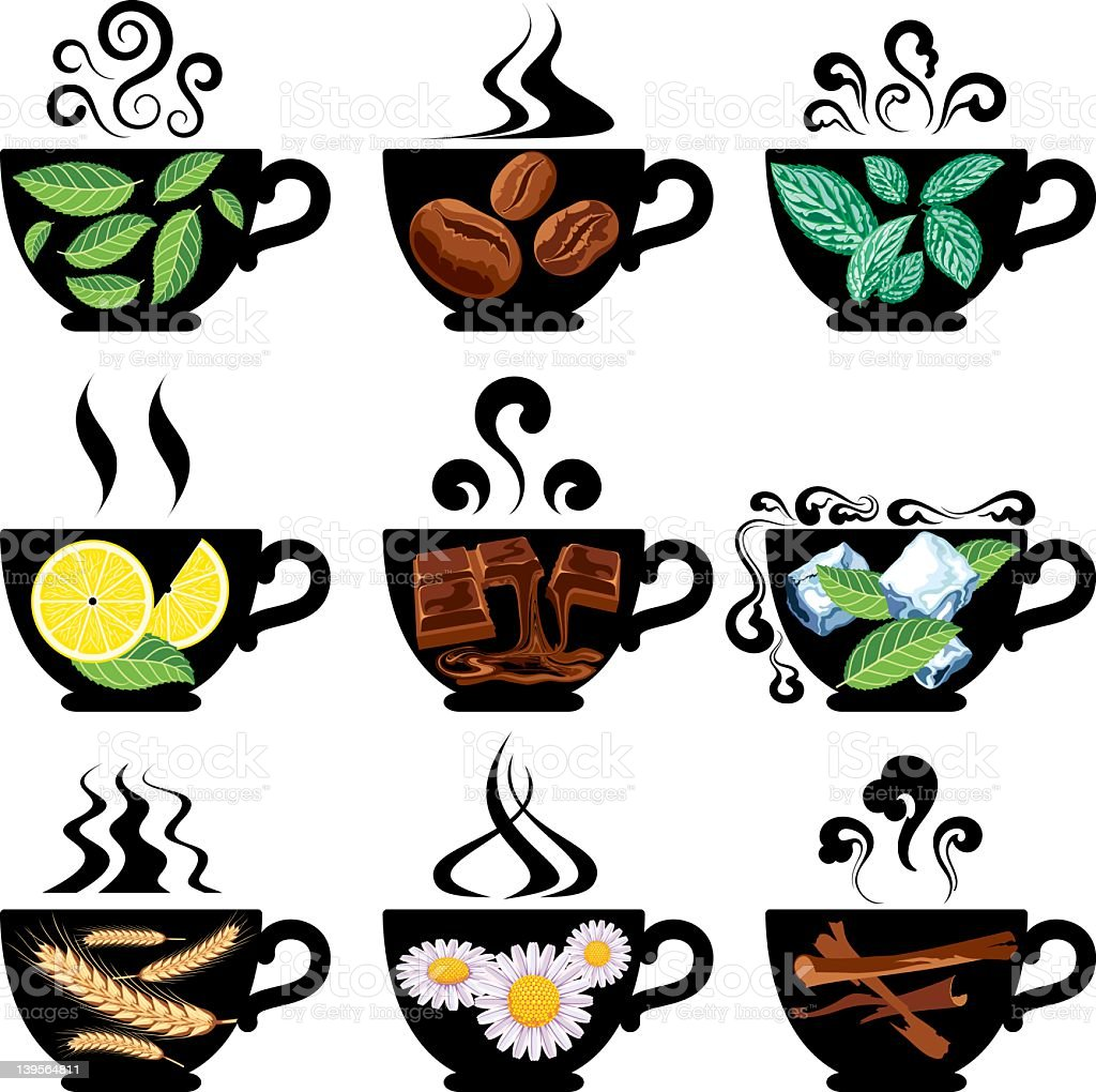 Teas, Coffee and Similar Drinks. royalty-free stock vector art