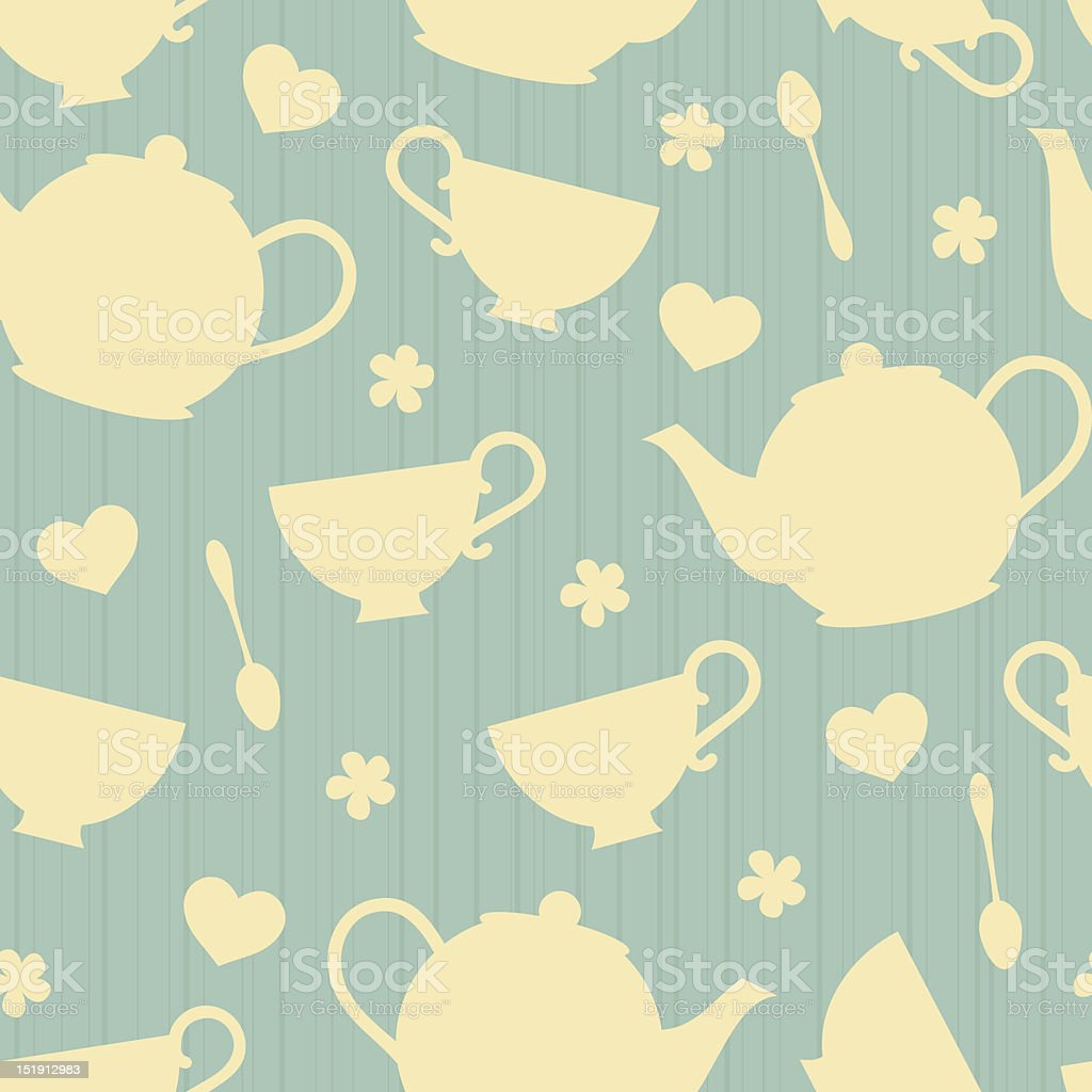 Teatime Background vector art illustration