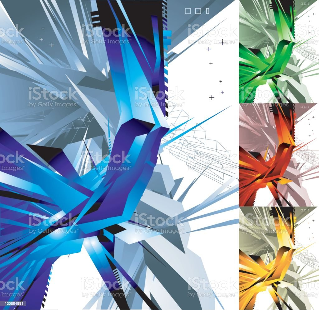 tech background (vector) royalty-free stock vector art
