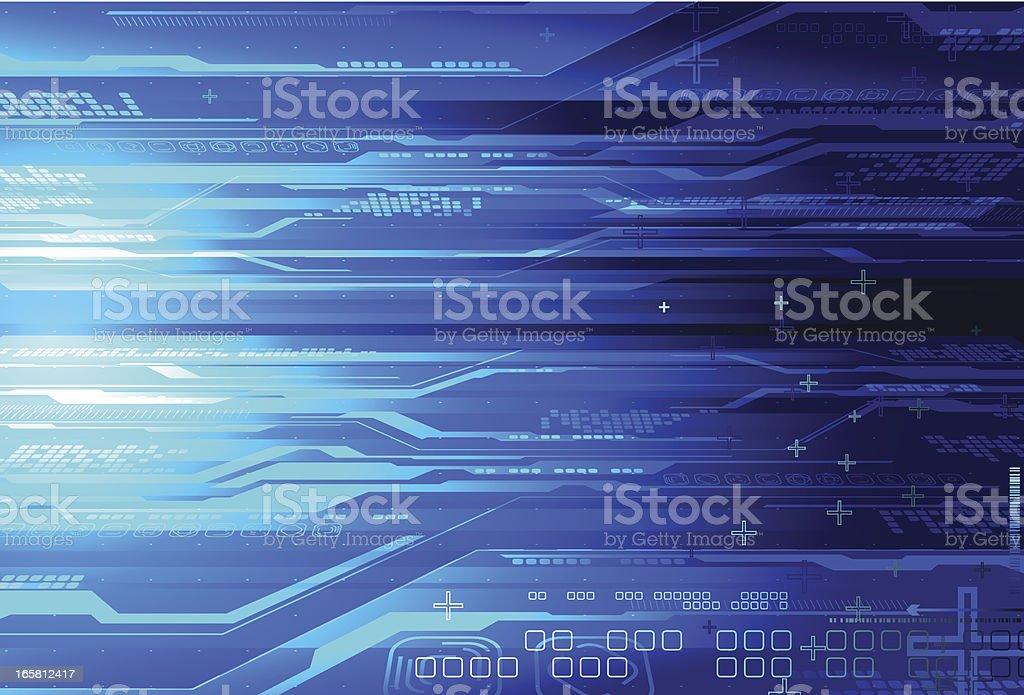 Tech background. vector art illustration