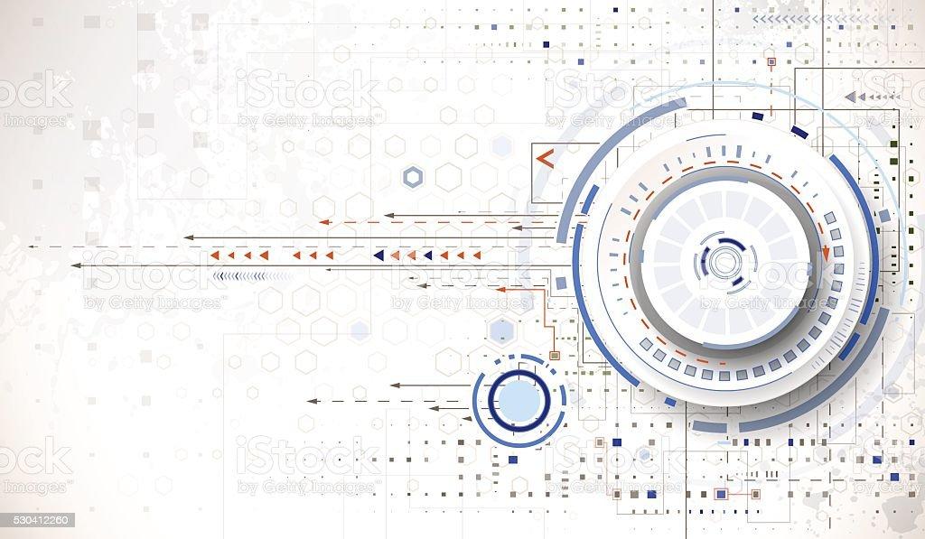 Tech background vector art illustration