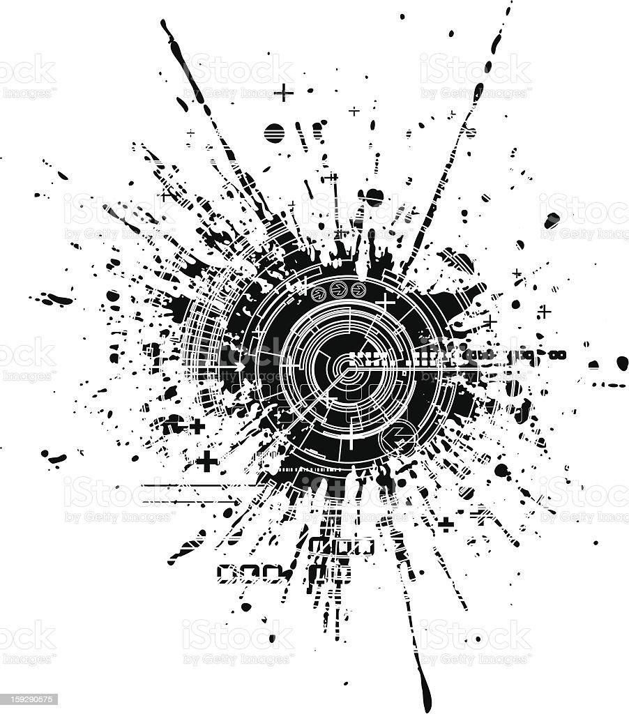 Tech blot royalty-free stock vector art