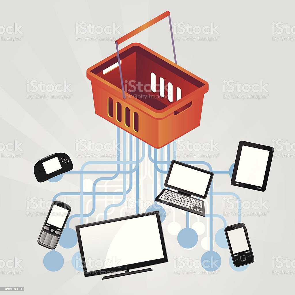 Tech commerce royalty-free stock vector art