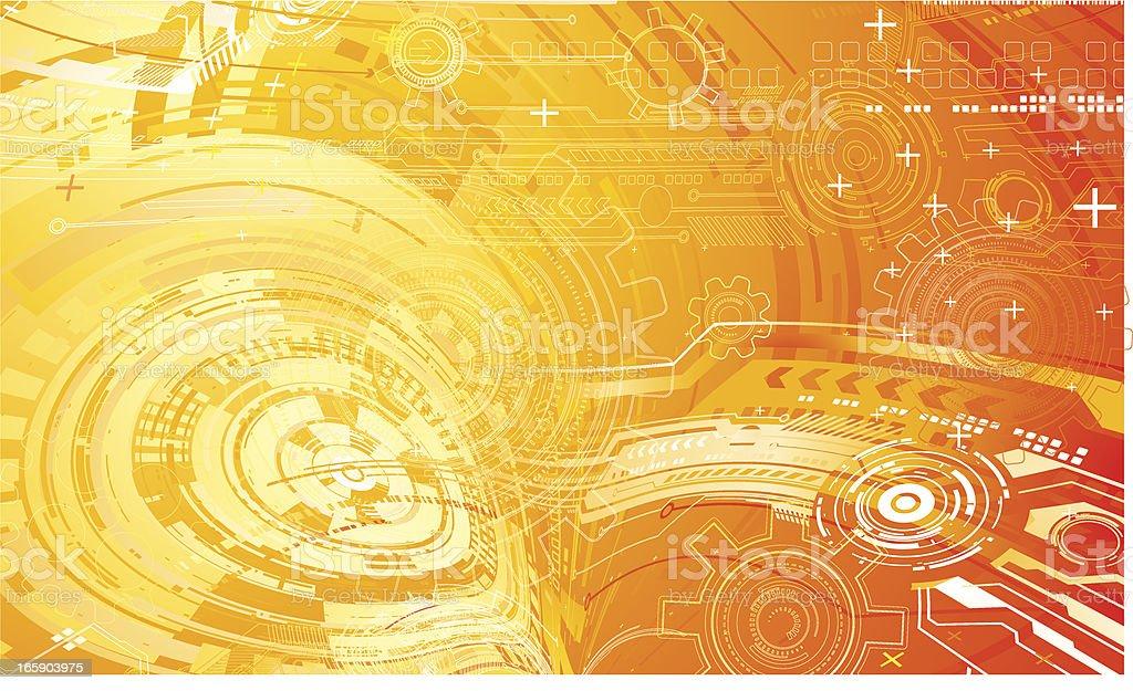 Tech composition. royalty-free stock vector art