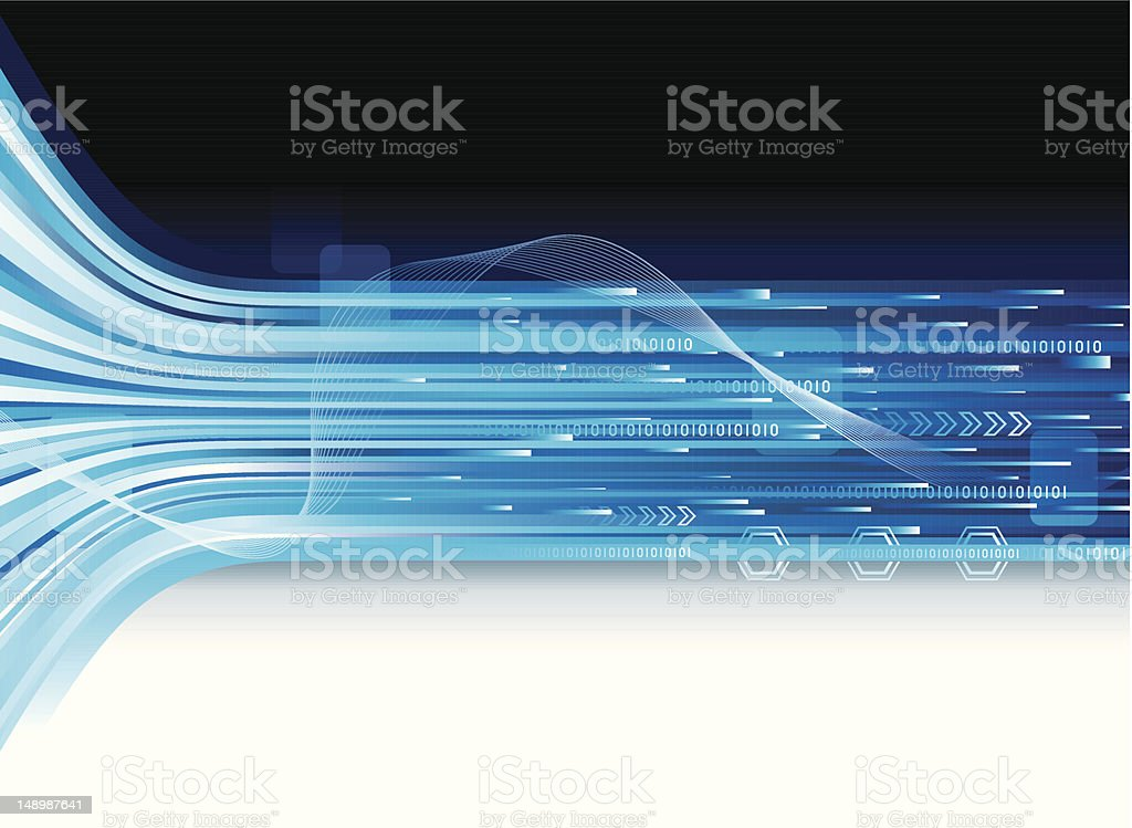 Tech Connection Banner vector art illustration