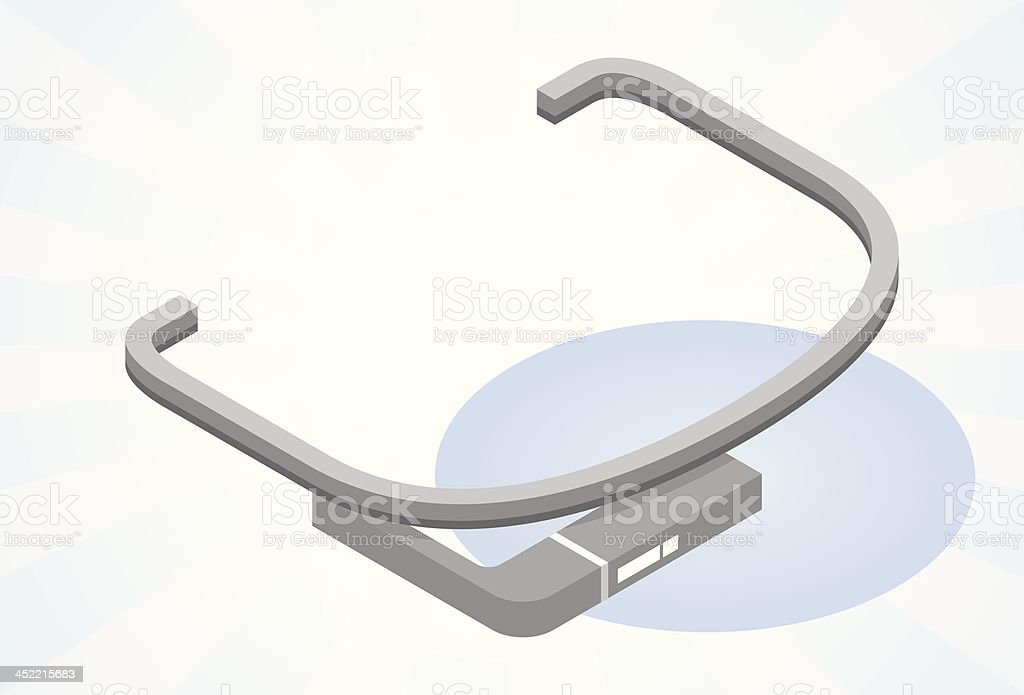 Tech glasses royalty-free stock vector art
