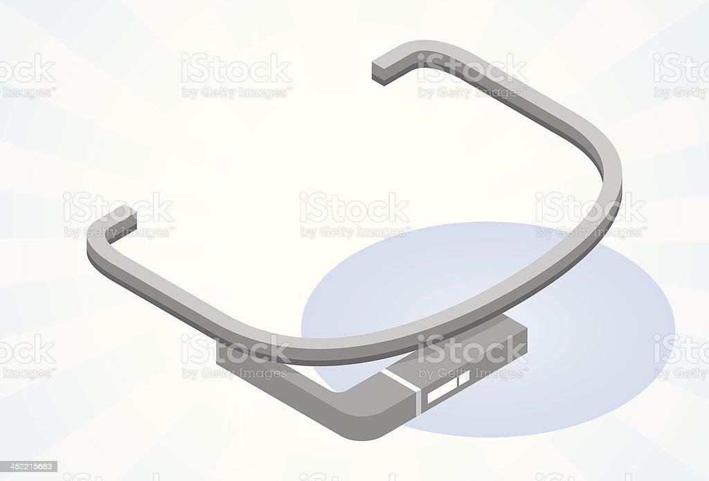 Tech glasses vector art illustration