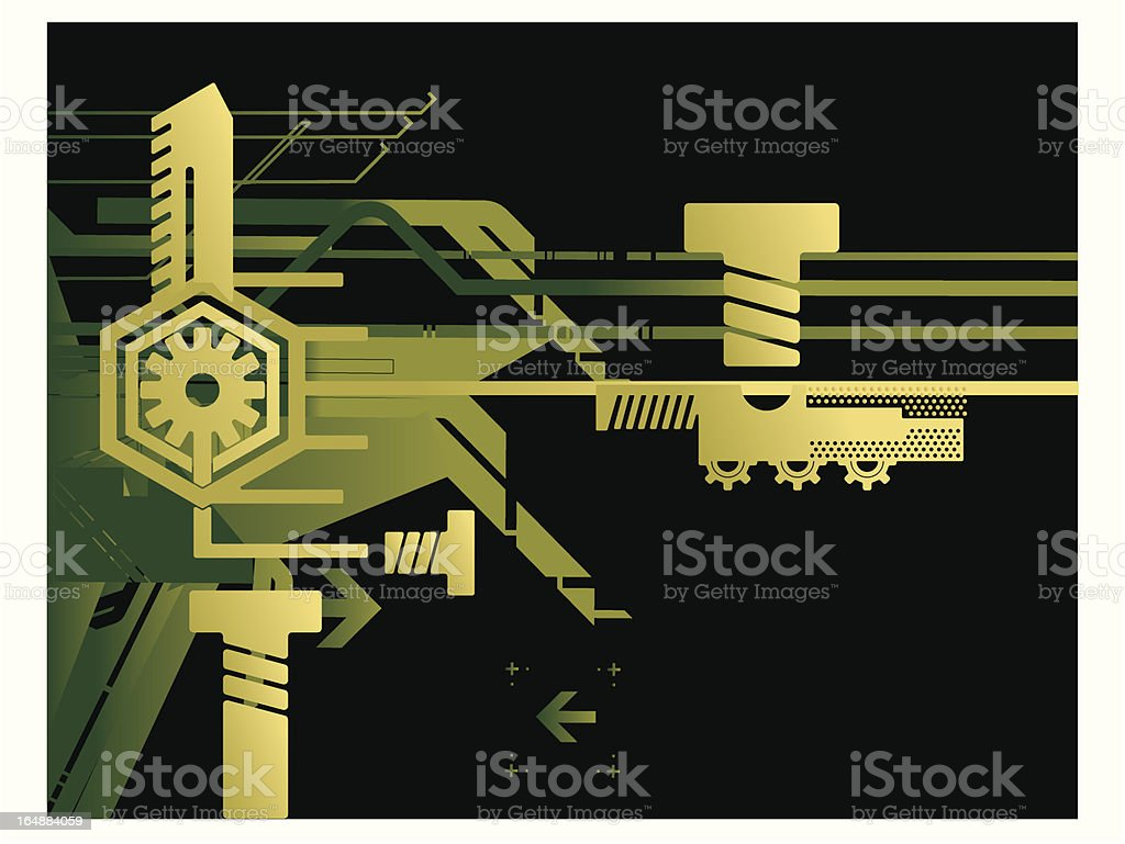 Technical Background Series royalty-free stock vector art