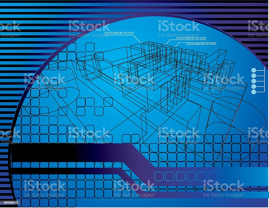 Technical Background royalty-free stock vector art