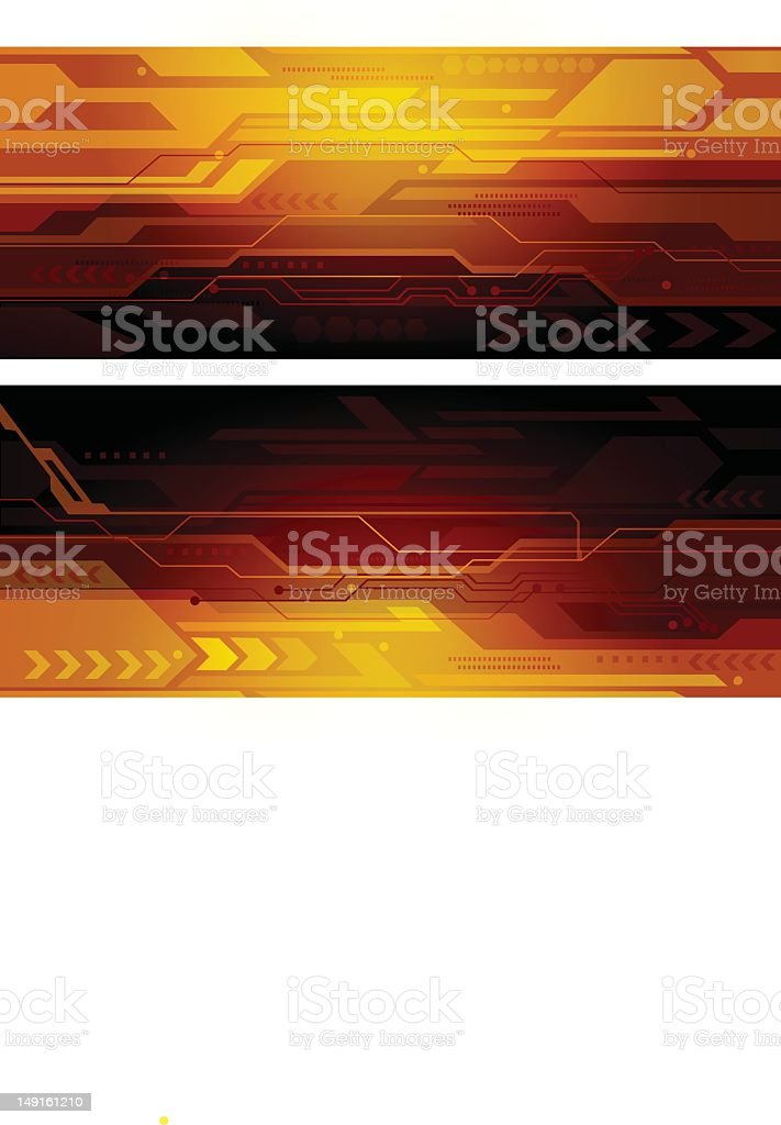 Technical Banners stock photo