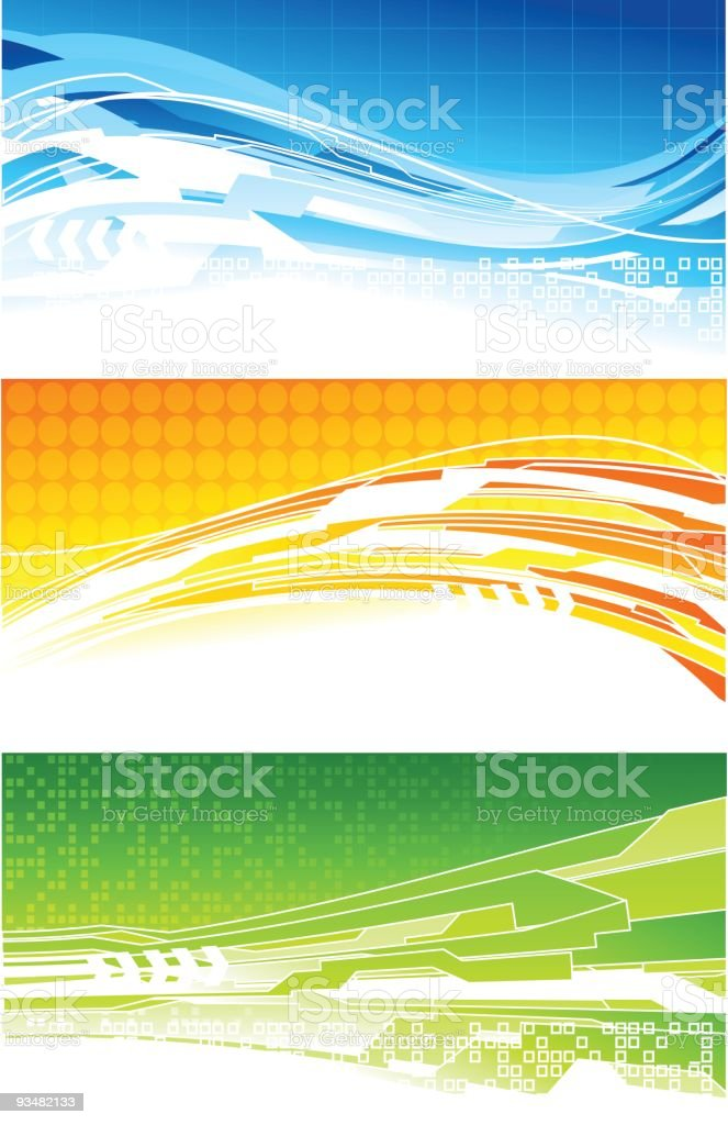 Technical banners royalty-free stock vector art