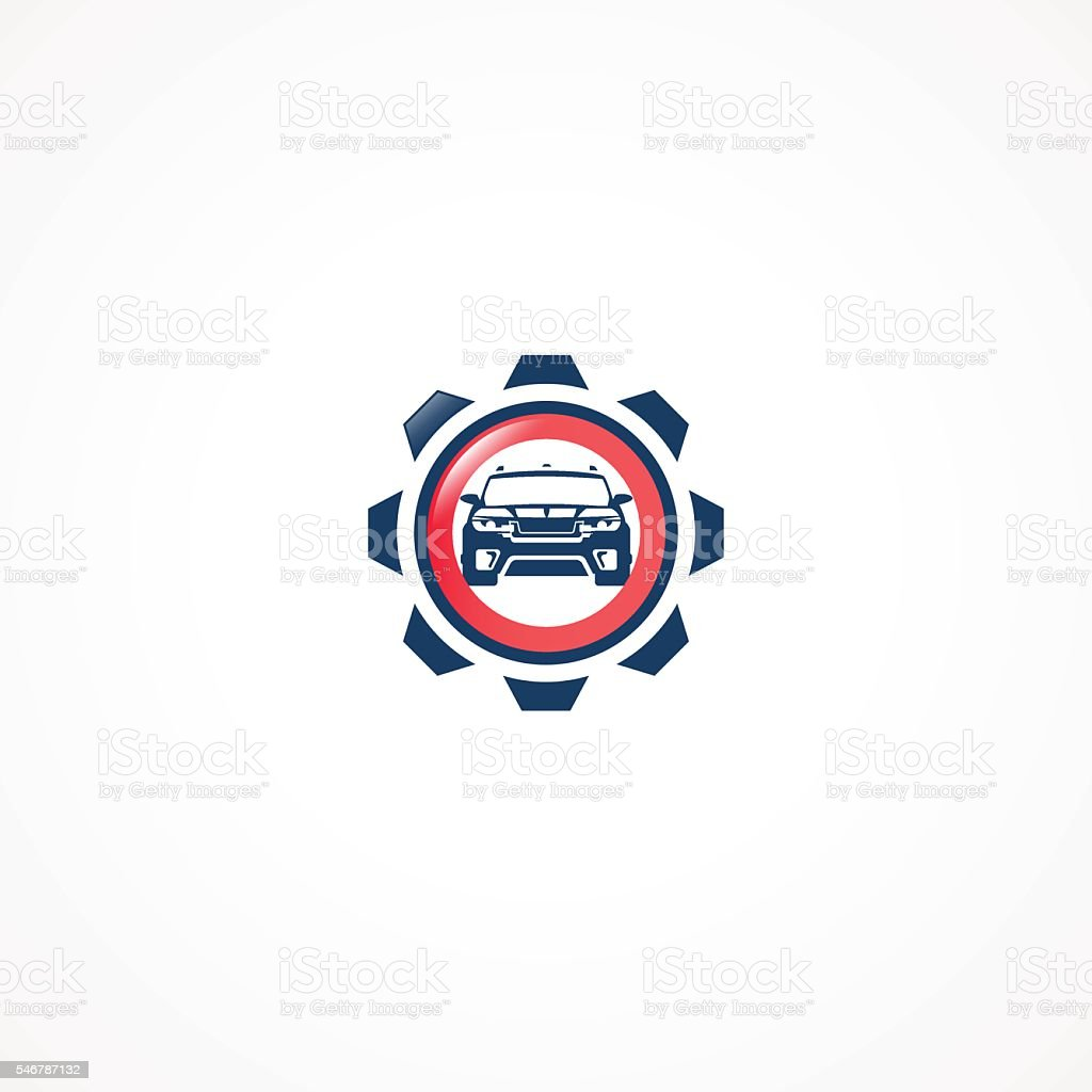 Technical car service. vector art illustration