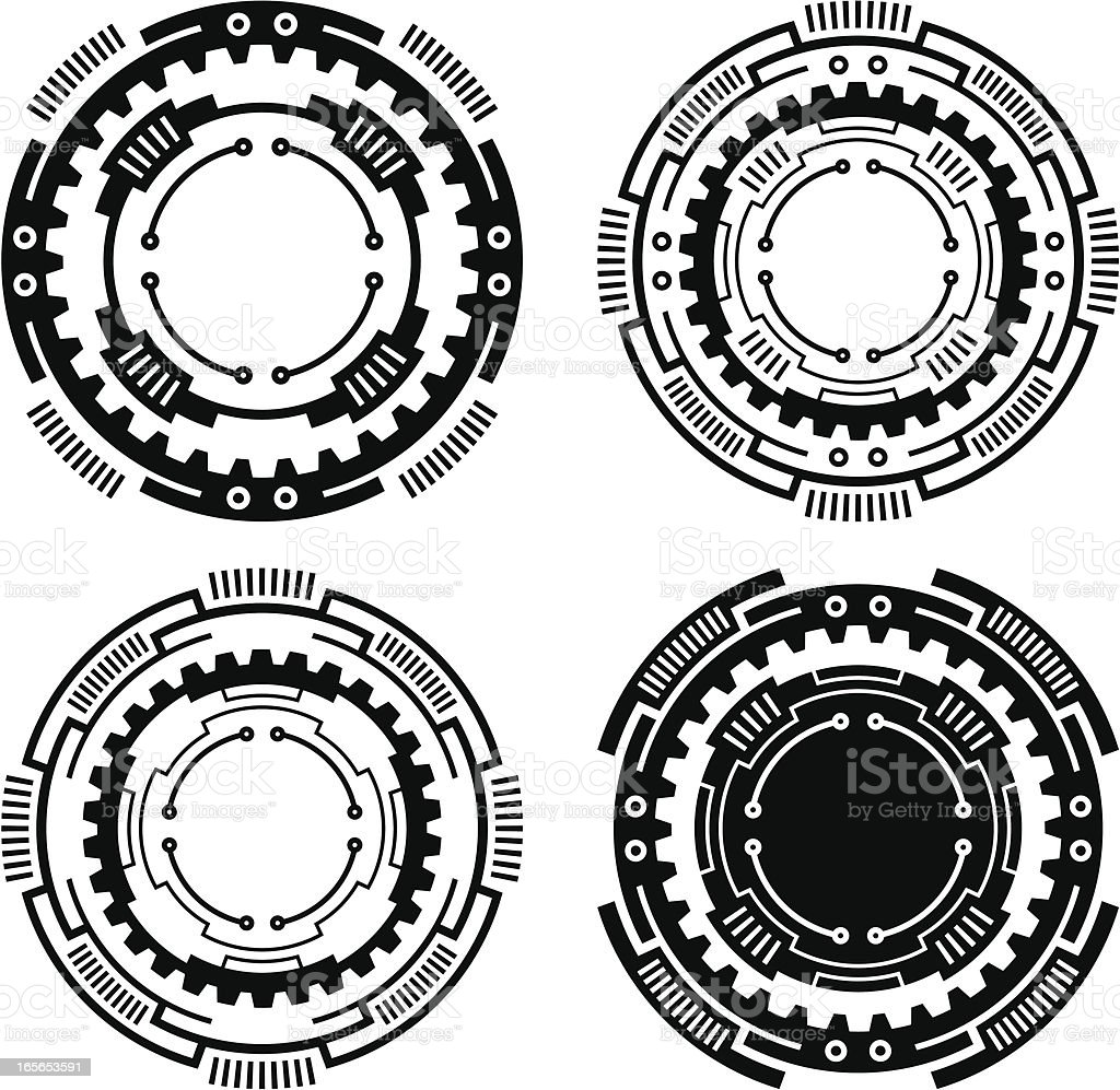 Technical circles royalty-free stock vector art