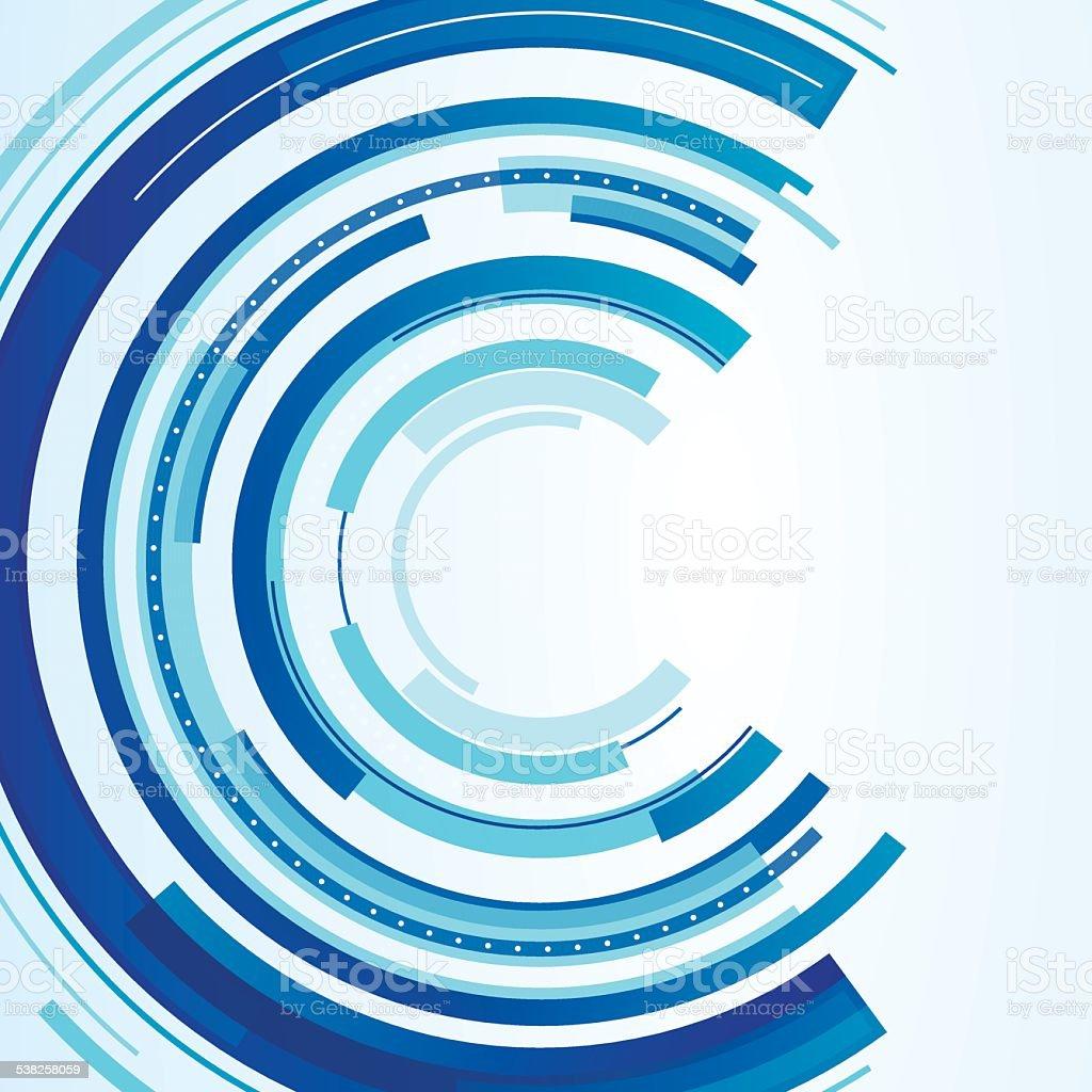 Technical Circular Design vector art illustration