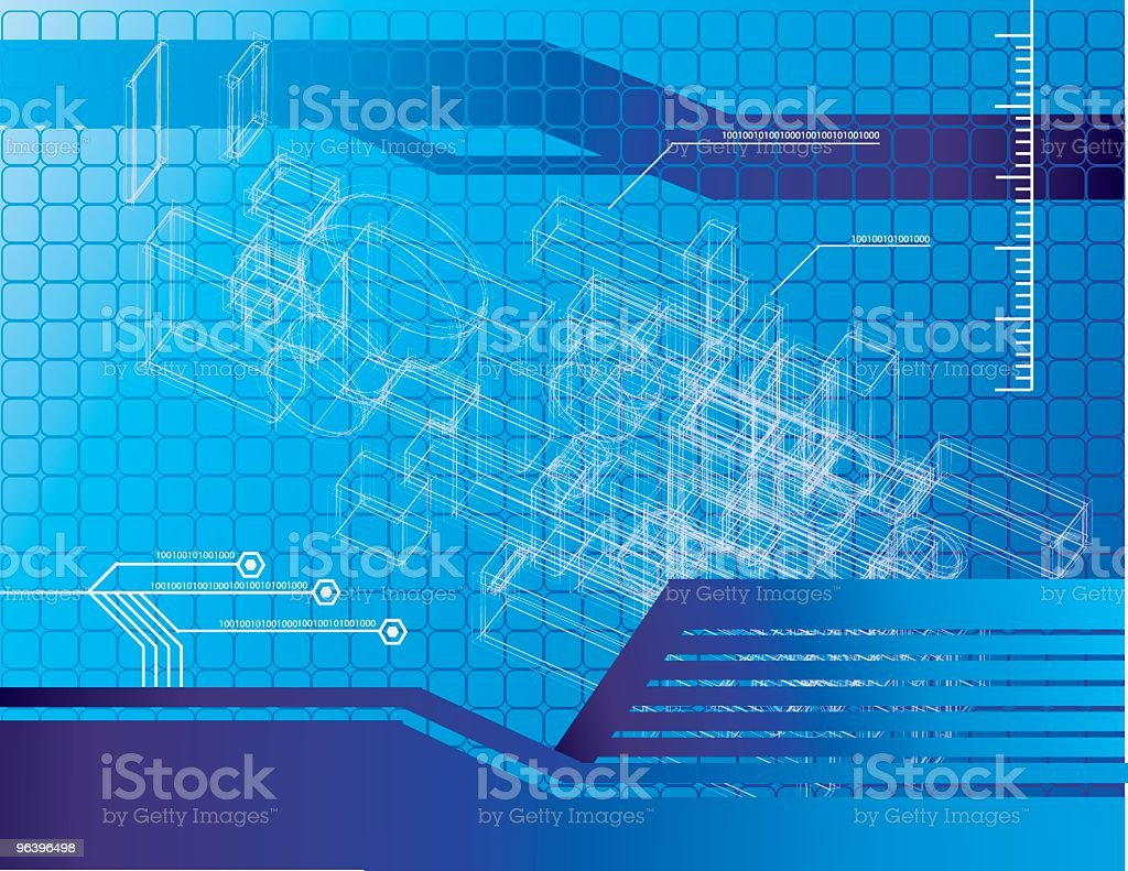 Technical Drawing Background royalty-free stock vector art