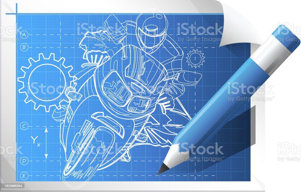 Technical Illustration royalty-free stock vector art