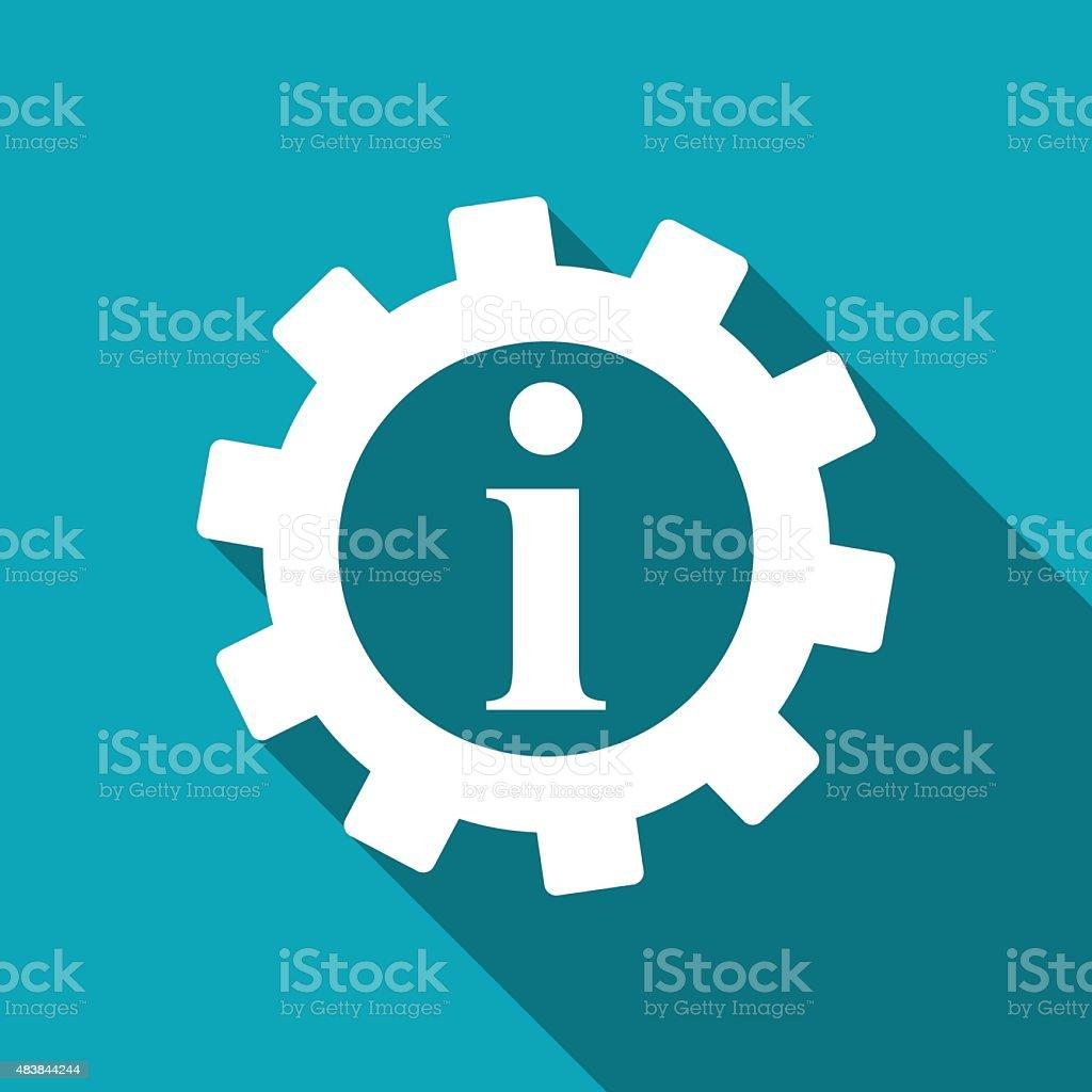 Technical information web icon, vector illustration vector art illustration