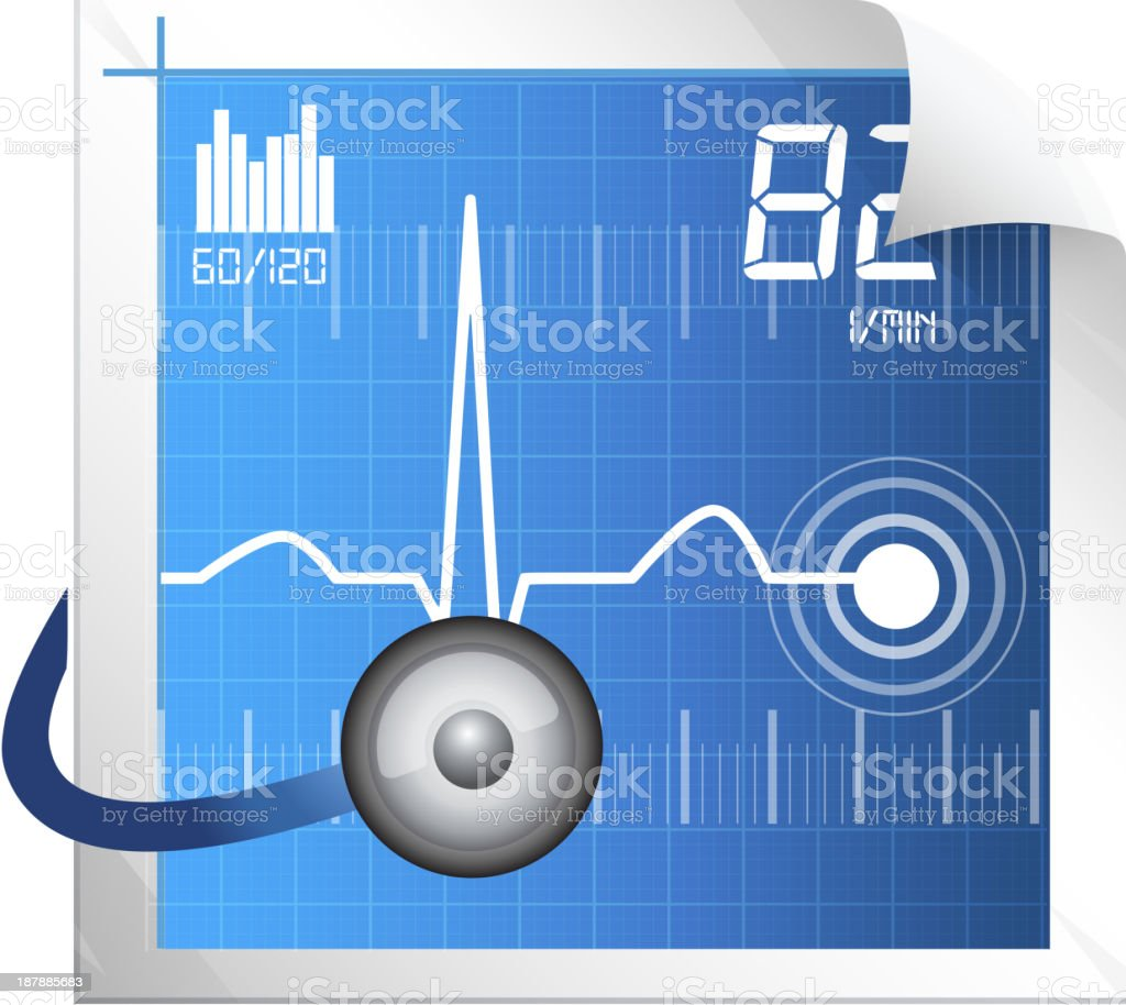 Technical Measure for ECG Monitoring royalty-free stock vector art