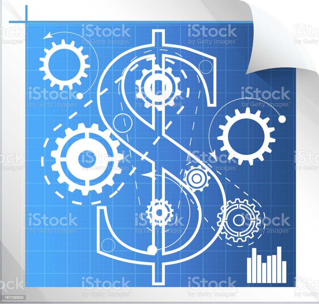 Technical Measure to revive economy royalty-free stock vector art