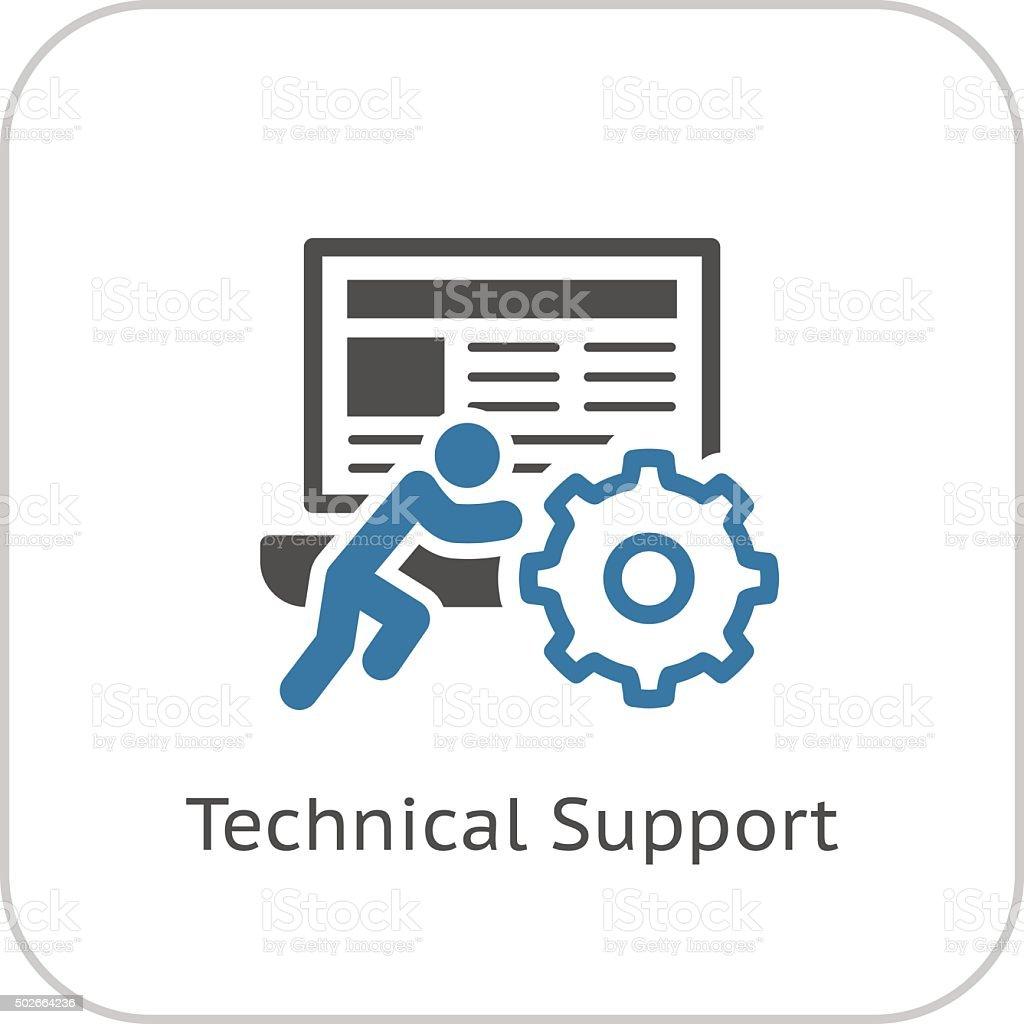 Technical Support Icon. Flat Design. vector art illustration